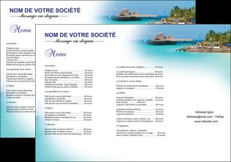 creation graphique en ligne set de table paysage plage vacances tourisme MLGI33846