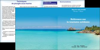 maquette en ligne a personnaliser depliant 2 volets  4 pages  paysage plage vacances tourisme MLGI33848