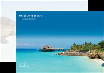 exemple affiche paysage plage vacances tourisme MLGI33850