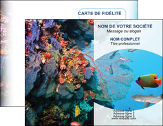 faire carte de visite chasse et peche plongeur corail poissons MIS33854