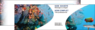 faire carte de visite chasse et peche plongeur corail poissons MIS33856
