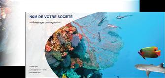 realiser flyers chasse et peche plongeur corail poissons MIS33868