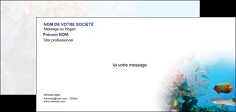 creer modele en ligne carte de correspondance chasse et peche plongeur corail poissons MIS33870