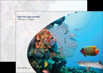 impression flyers chasse et peche plongeur corail poissons MLIG33874