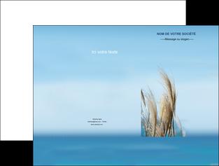 personnaliser modele de pochette a rabat paysage plante nature ciel MLGI33896