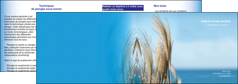 realiser depliant 2 volets  4 pages  paysage plante nature ciel MLGI33900