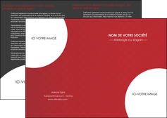 creer modele en ligne depliant 2 volets  4 pages  texture contexture structure MIF33928