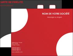 Impression carte de visite vernis selectif  Carte commerciale de fidélité papier à prix discount et format Carte de visite Double - Portrait