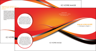 faire modele a imprimer depliant 4 volets  8 pages  texture contexture structure MIF33962