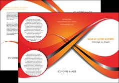 Commander Plaquette entreprise  modèle graphique pour devis d'imprimeur Dépliant 6 pages Pli roulé DL - Portrait (10x21cm lorsque fermé)