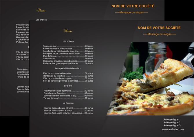 Set de table mod le et exemple pizza pizzeria restaurant for Modele set de table