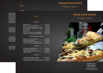 Set de table papier publicitaire et personnalis pour - Set de table personnalise pour restaurant ...