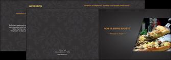 exemple depliant 2 volets  4 pages  pizzeria et restaurant italien pizza pizzeria restaurant italien MLGI34020