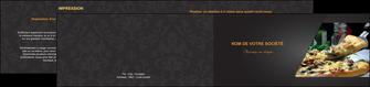 creation graphique en ligne depliant 2 volets  4 pages  pizzeria et restaurant italien pizza pizzeria restaurant italien MLGI34022