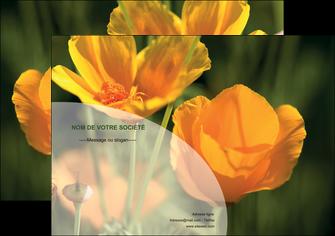 maquette en ligne a personnaliser affiche agriculture fleurs bouquetier horticulteur MLGI34120