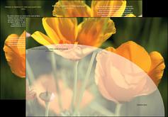 creer modele en ligne depliant 3 volets  6 pages  agriculture fleurs bouquetier horticulteur MLGI34122