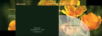 creer modele en ligne depliant 2 volets  4 pages  agriculture fleurs bouquetier horticulteur MLGI34130