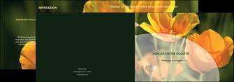 personnaliser modele de depliant 2 volets  4 pages  agriculture fleurs bouquetier horticulteur MLGI34132