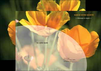 personnaliser modele de pochette a rabat agriculture fleurs bouquetier horticulteur MLGI34134