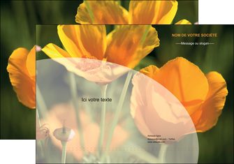 faire modele a imprimer pochette a rabat agriculture fleurs bouquetier horticulteur MLGI34136
