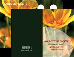 impression carte de visite agriculture fleurs bouquetier horticulteur MLGI34140