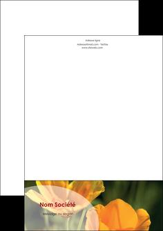 faire modele a imprimer tete de lettre agriculture fleurs bouquetier horticulteur MLIP34142