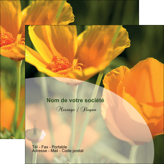 maquette en ligne a personnaliser flyers agriculture fleurs bouquetier horticulteur MLGI34144