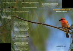 exemple depliant 3 volets  6 pages  paysage nature parc naturel animaux parc naturel des oiseaux MLGI34262