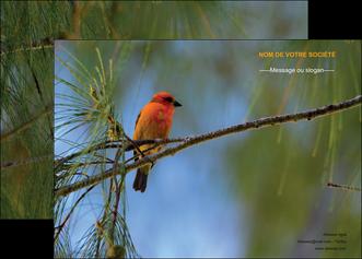 maquette en ligne a personnaliser affiche paysage nature parc naturel animaux parc naturel des oiseaux MLGI34266