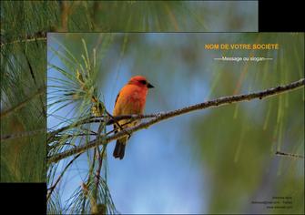 cree affiche paysage nature parc naturel animaux parc naturel des oiseaux MLGI34268