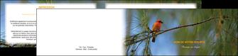 maquette en ligne a personnaliser depliant 2 volets  4 pages  paysage nature parc naturel animaux parc naturel des oiseaux MLGI34274