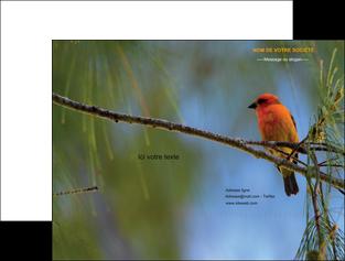 personnaliser modele de pochette a rabat paysage nature parc naturel animaux parc naturel des oiseaux MLGI34276