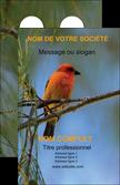 faire modele a imprimer carte de visite voyagistes nature parc naturel animaux parc naturel des oiseaux MLGI34280