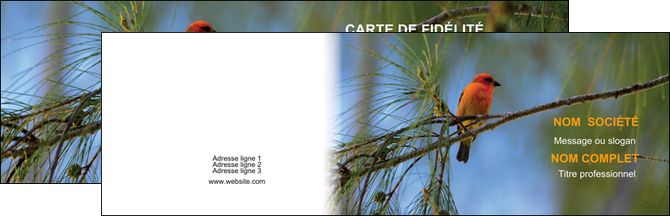 Personnaliser Maquette Carte De Visite Paysage Nature Parc Naturel Animaux Des Oiseaux MLGI34282