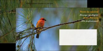 personnaliser modele de enveloppe paysage nature parc naturel animaux parc naturel des oiseaux MLGI34284