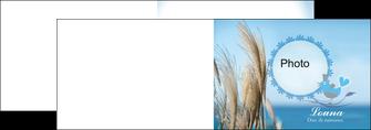 modele depliant 2 volets  4 pages  paysage plante nature ciel MLGI34322