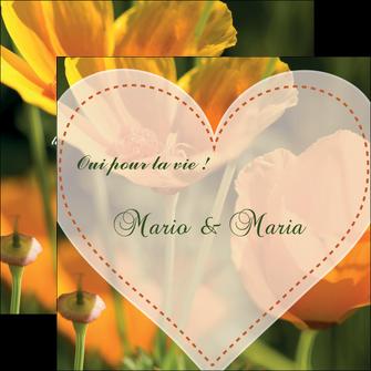 personnaliser maquette flyers faire part de mariage invitation de mariage carton invitation de mariage MLGI34326