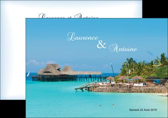 realiser flyers paysage faire part de mariage carte de mariage invitation mariage MLGI34346