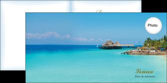 creer modele en ligne depliant 2 volets  4 pages  paysage faire part de naissance carte pour naissance plages MLGI34350