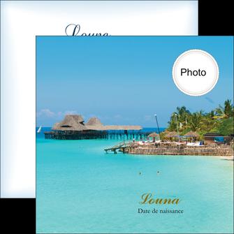 exemple flyers faire part de naissance carte pour naissance plages MLGI34356