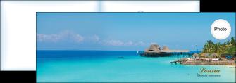personnaliser modele de depliant 2 volets  4 pages  paysage faire part de naissance carte pour naissance plages MLGI34358