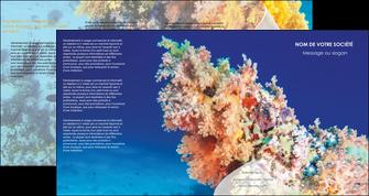 creer modele en ligne depliant 4 volets  8 pages  plongee  plongee plongee sous marine centre de plongee MLGI34366