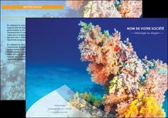 faire depliant 2 volets  4 pages  plongee  plongee plongee sous marine centre de plongee MLGI34372