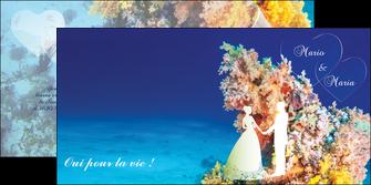 modele depliant 2 volets  4 pages  ocean paysage nature MLGI34420