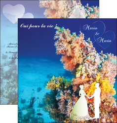 modele depliant 2 volets  4 pages  ocean paysage nature MLGI34424