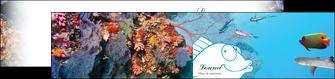 imprimerie depliant 2 volets  4 pages  chasse et peche plongeur corail poissons MIS34426