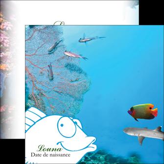 modele en ligne flyers chasse et peche plongeur corail poissons MIS34434