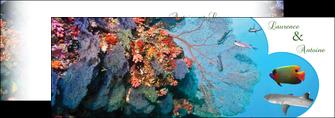 realiser depliant 2 volets  4 pages  chasse et peche plongeur corail poissons MIS34436