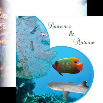 faire flyers chasse et peche plongeur corail poissons MIS34438