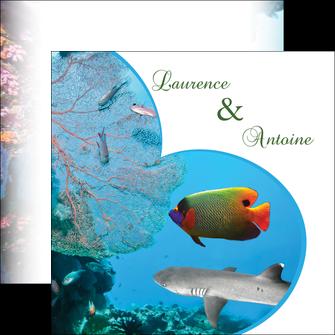 realiser flyers chasse et peche plongeur corail poissons MIS34440